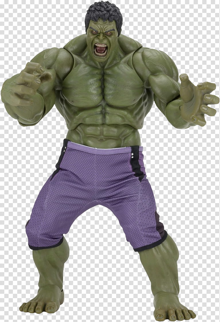 Avengers age of ultron hulk scale action figur transparent.
