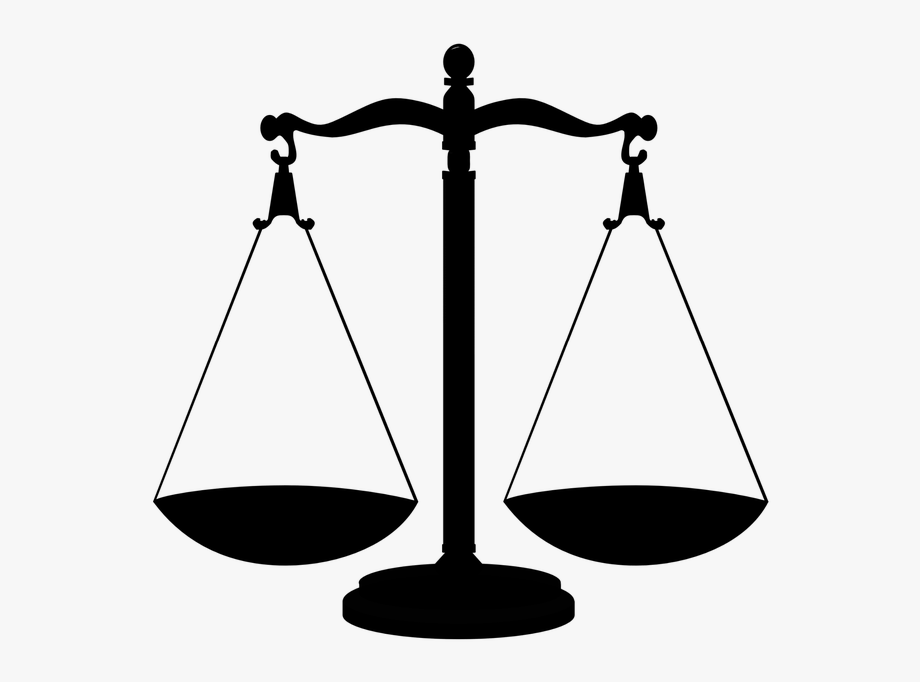 Silhouette Scales Justice Scale Libra Balance.