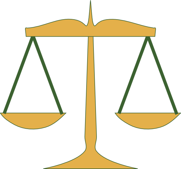 Law Scales Clipart.