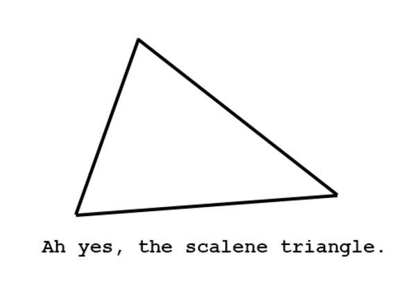 Ah, The Scalene Triangle.