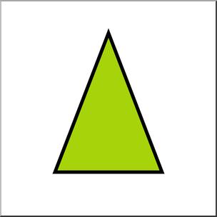 Clip Art: Shapes: Triangle: Isosceles Color Unlabeled I.
