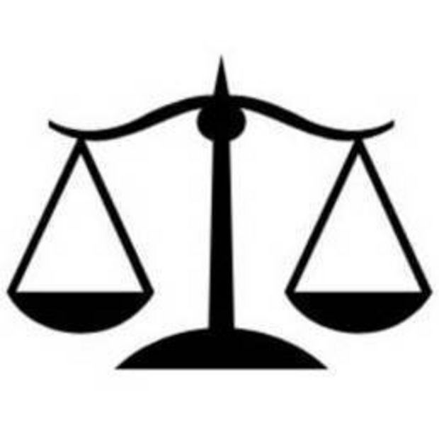 Scales Of Justice Clip Art Black And White.