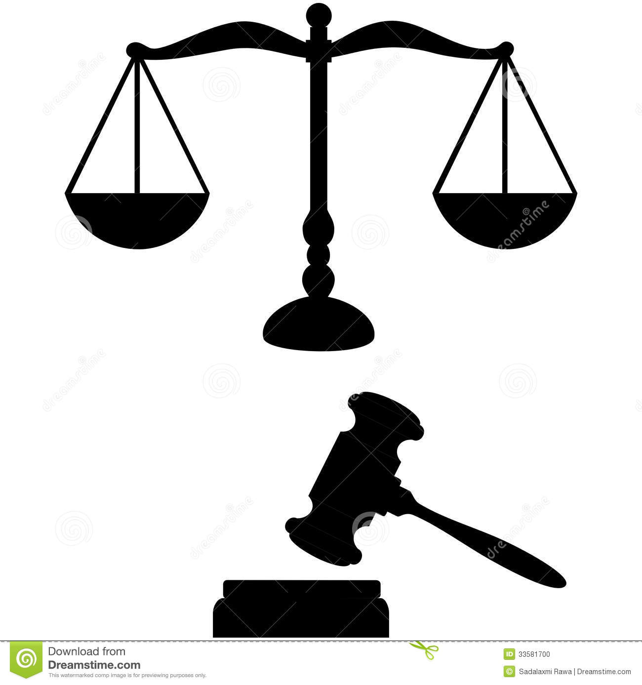 Scales Of Justice And Gavel Clipart.
