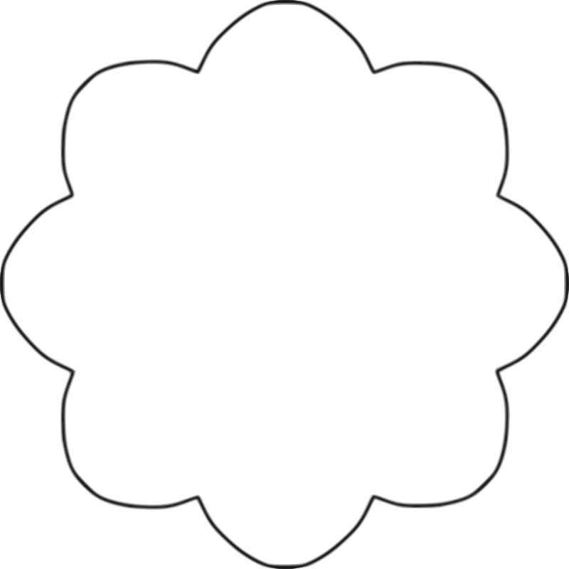 Free Clipart: Flower 8 scallop circle background.
