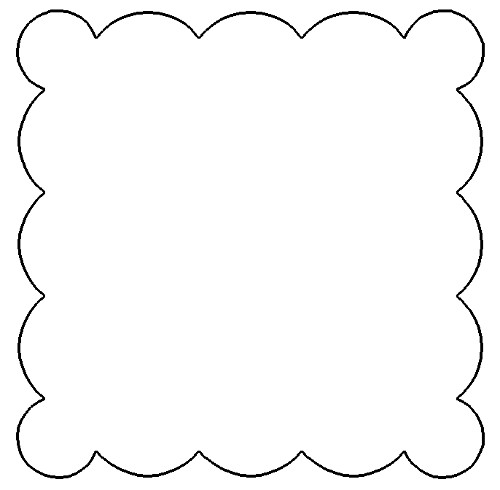 Scallop Circle Template, Png.