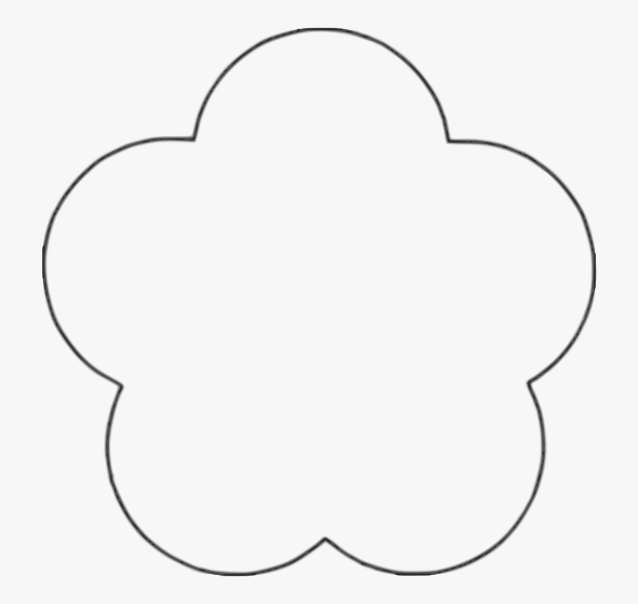 28 Collection Of Flower Shape Clipart Black And White.