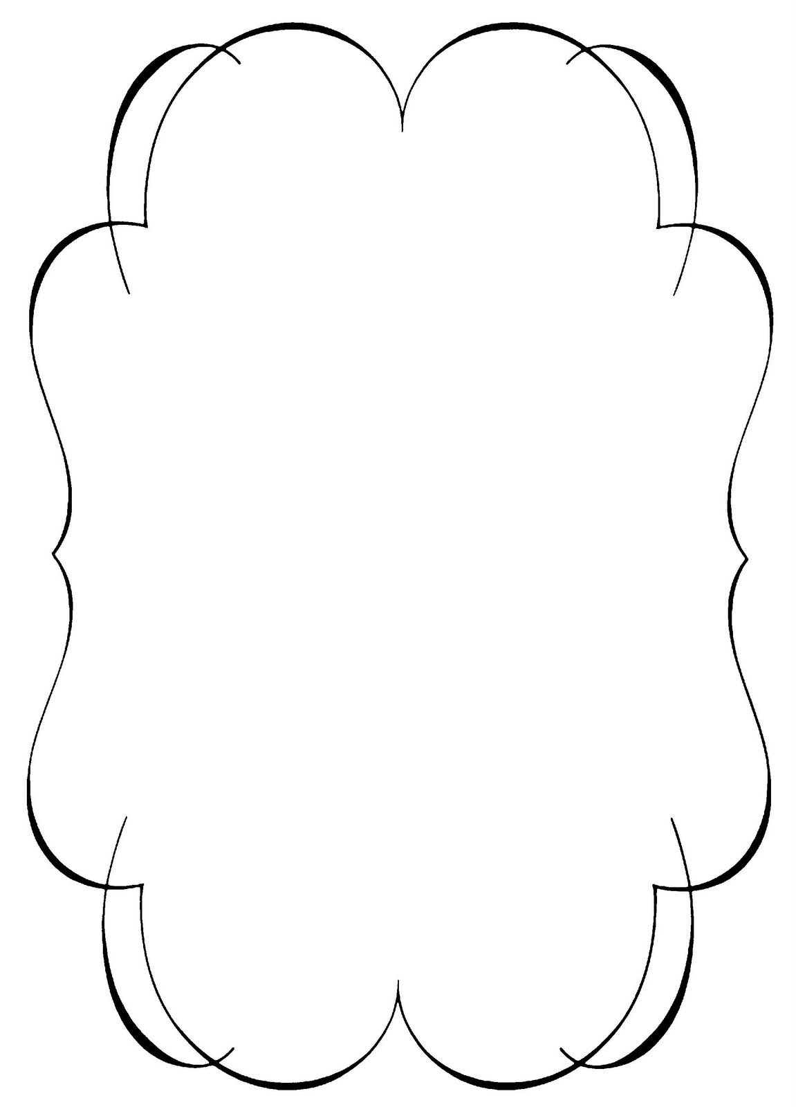 Free Shapes Scalloped Clipart.