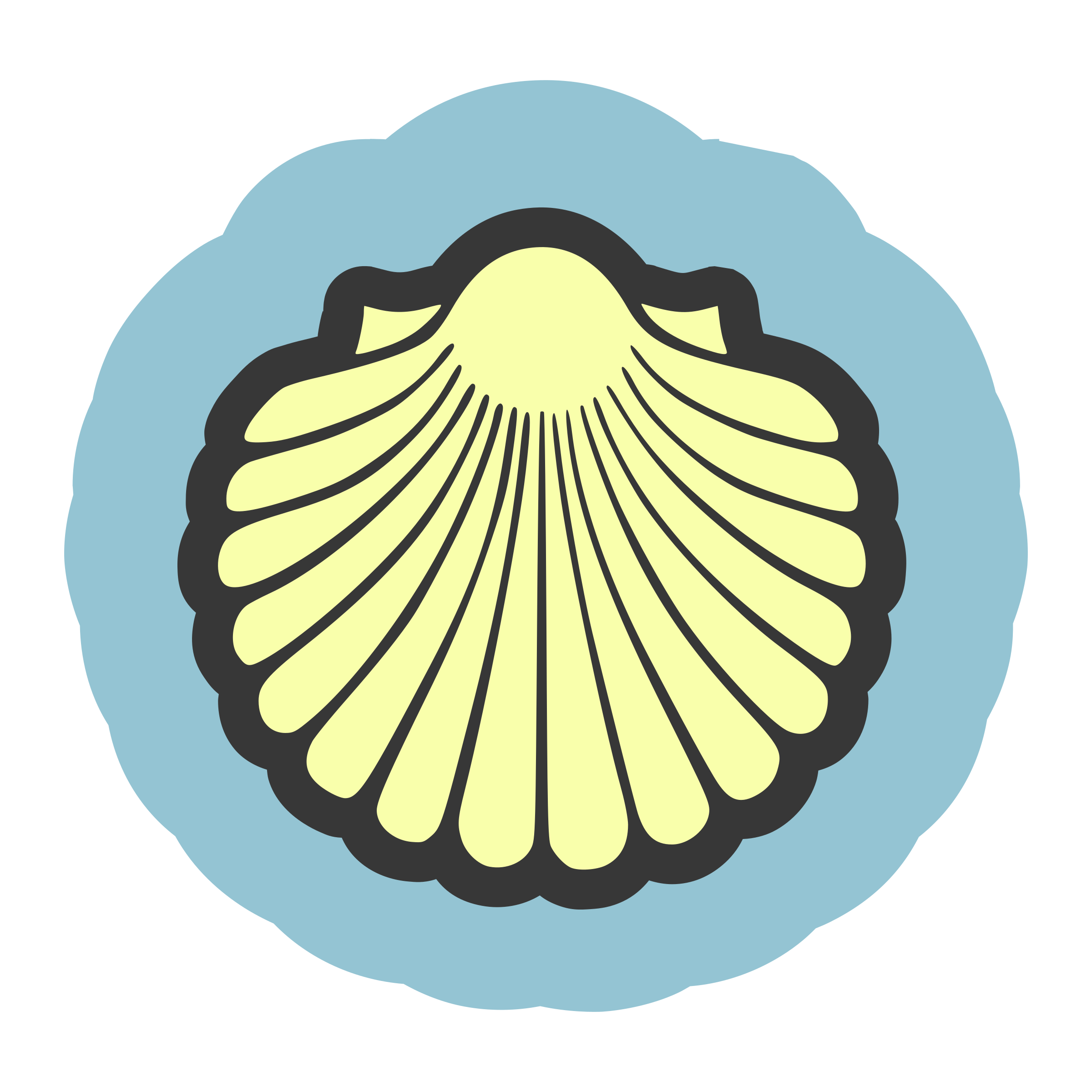 Scallop Seashell Clam Clip art.