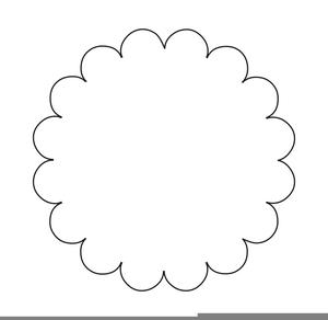 Scalloped Circle Clipart.
