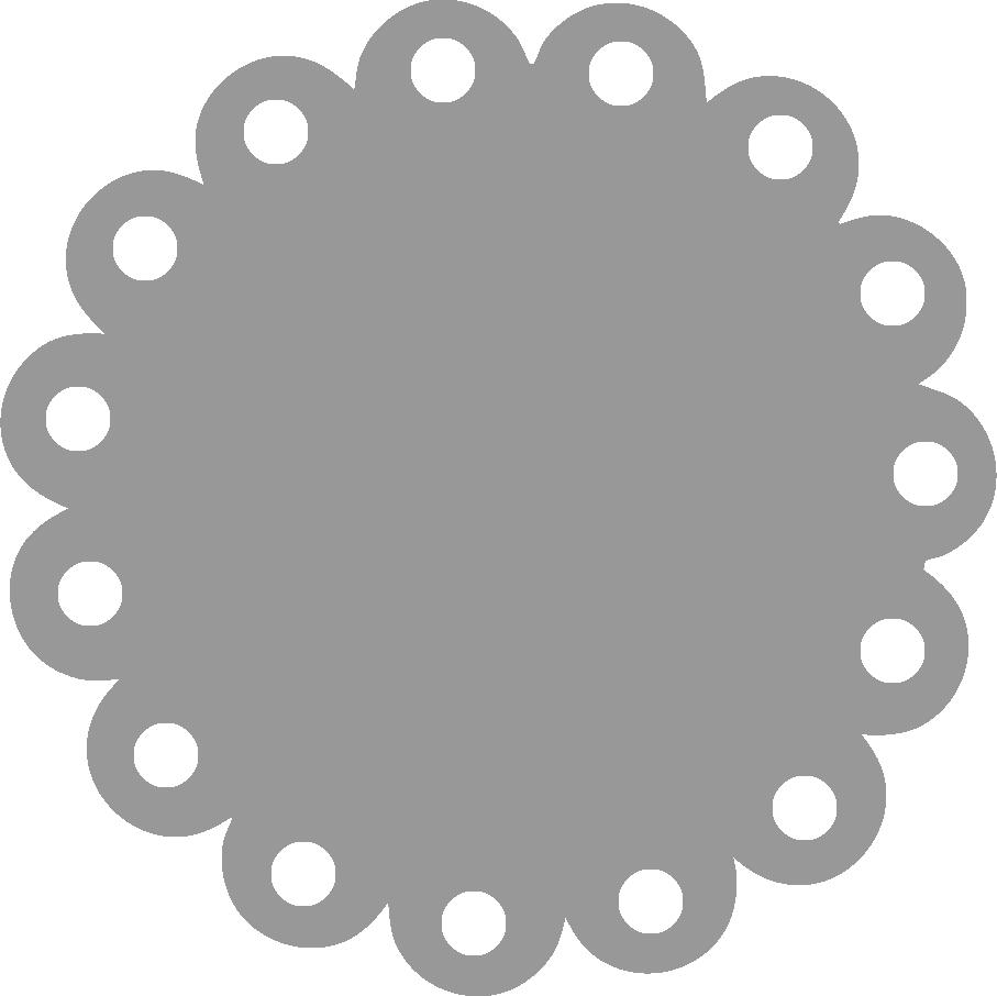 Free Scalloped Circle Border Clip Art.