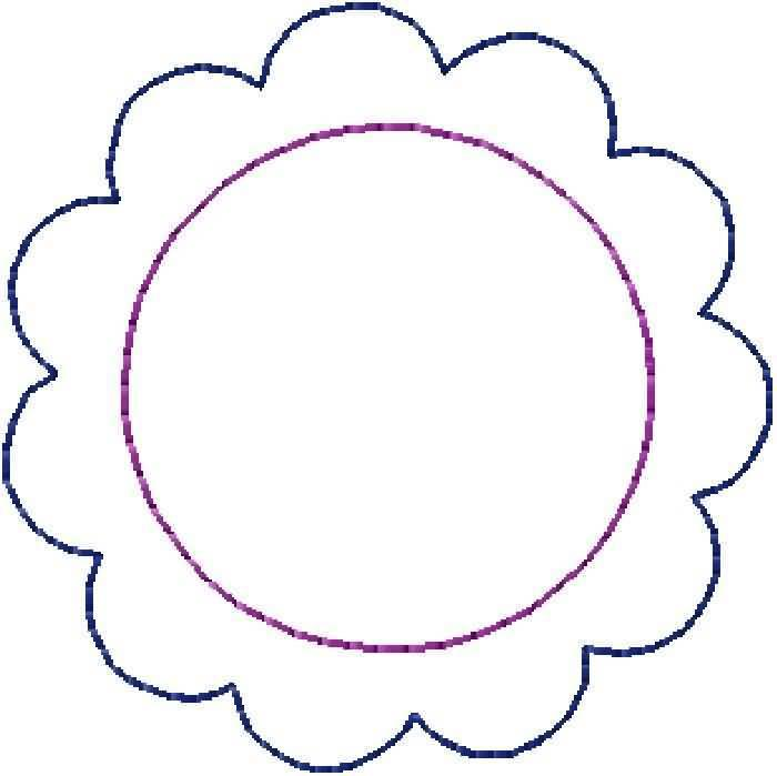 Scalloped clipart #12