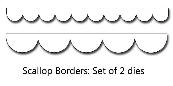 9 Best Images of Printable Template For Scalloped Border.