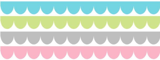 Scalloped Borders Clipart.