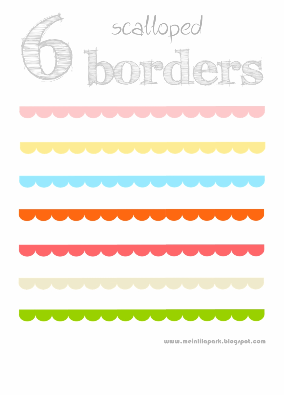 Free Digital And Printable Scalloped Scrapbooking Borders.