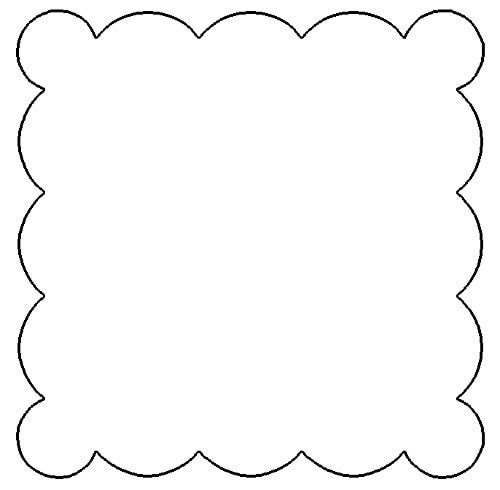 Scalloped edge photo frame clipart.