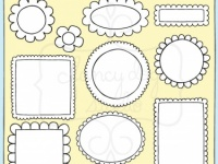 Scalloped Edge Clip Art Frames.