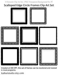 Square Frames Clipart Clip Art, Square Borders Clipart Clip Art.
