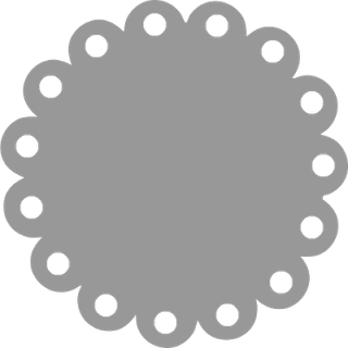 Scalloped Edge Circle.
