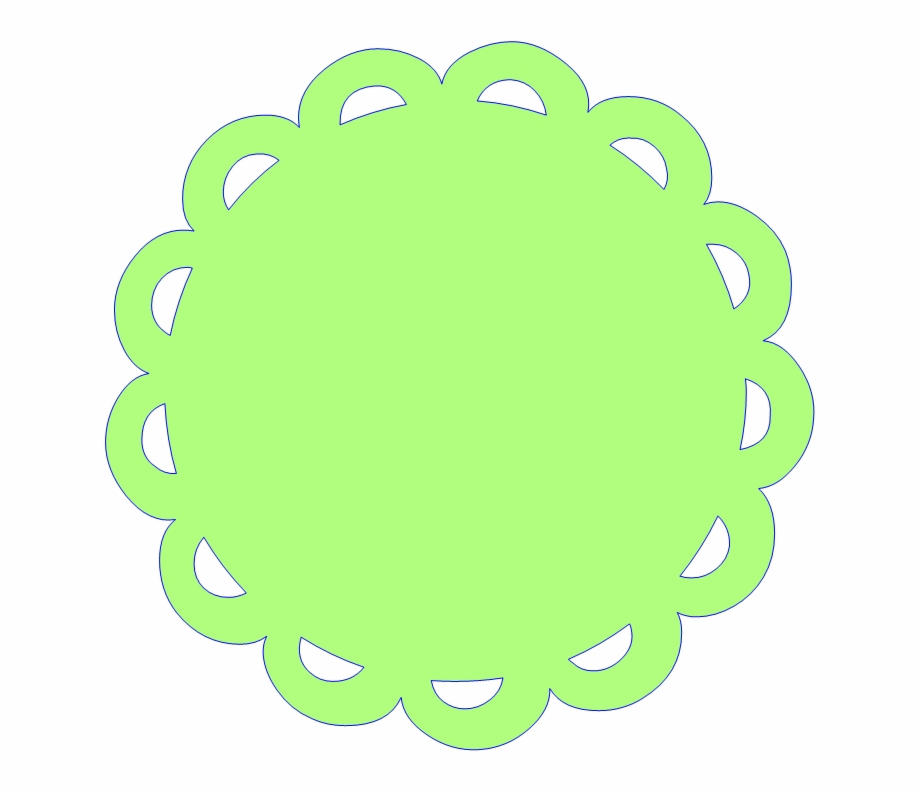 Free Scalloped White Circle Frame Png.