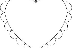 Scalloped heart clipart 6 » Clipart Station.