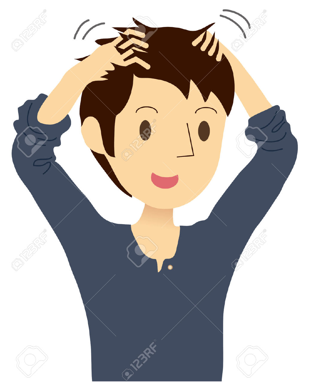 Head massage clipart.
