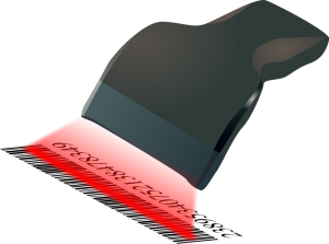Clipart barcode scanner.