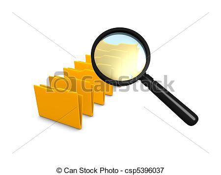 Stock Illustrations of folder scan.