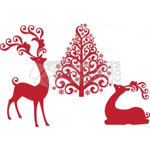 Scandinavian christmas clipart.