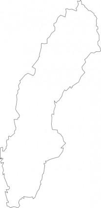 Scandinavia Map Clipart.