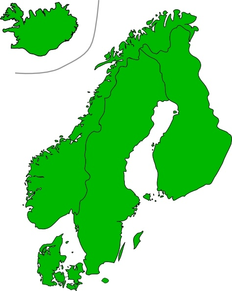 Map Of Scandinavia clip art Free vector in Open office drawing svg.