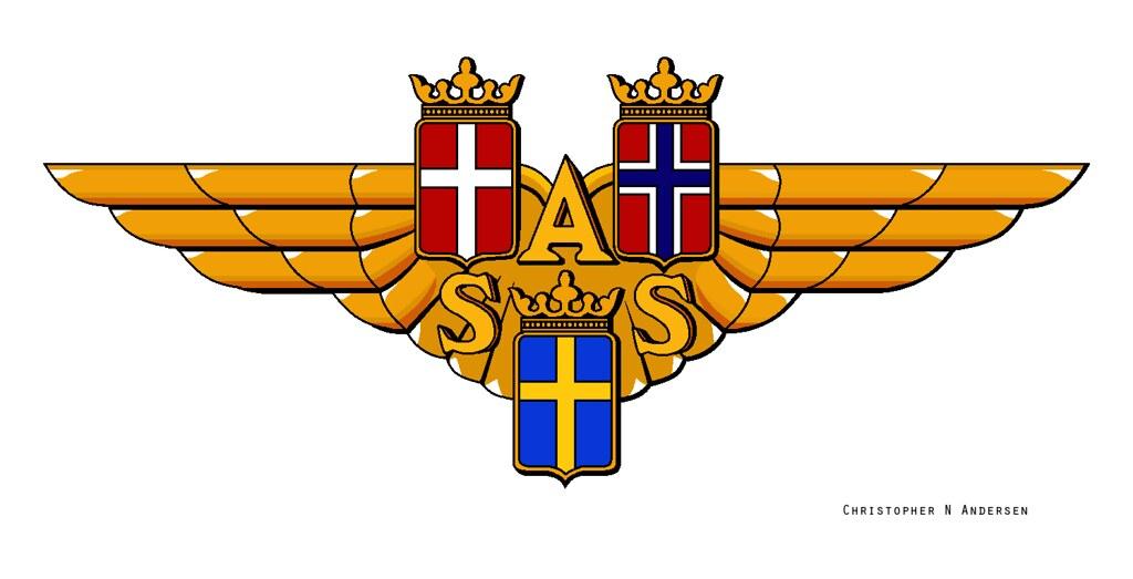 Old Scandinavian Airlines logo.