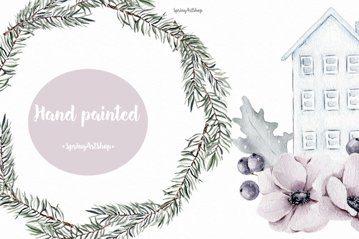 Scandinavian Christmas Clipart By SpringArtShop.