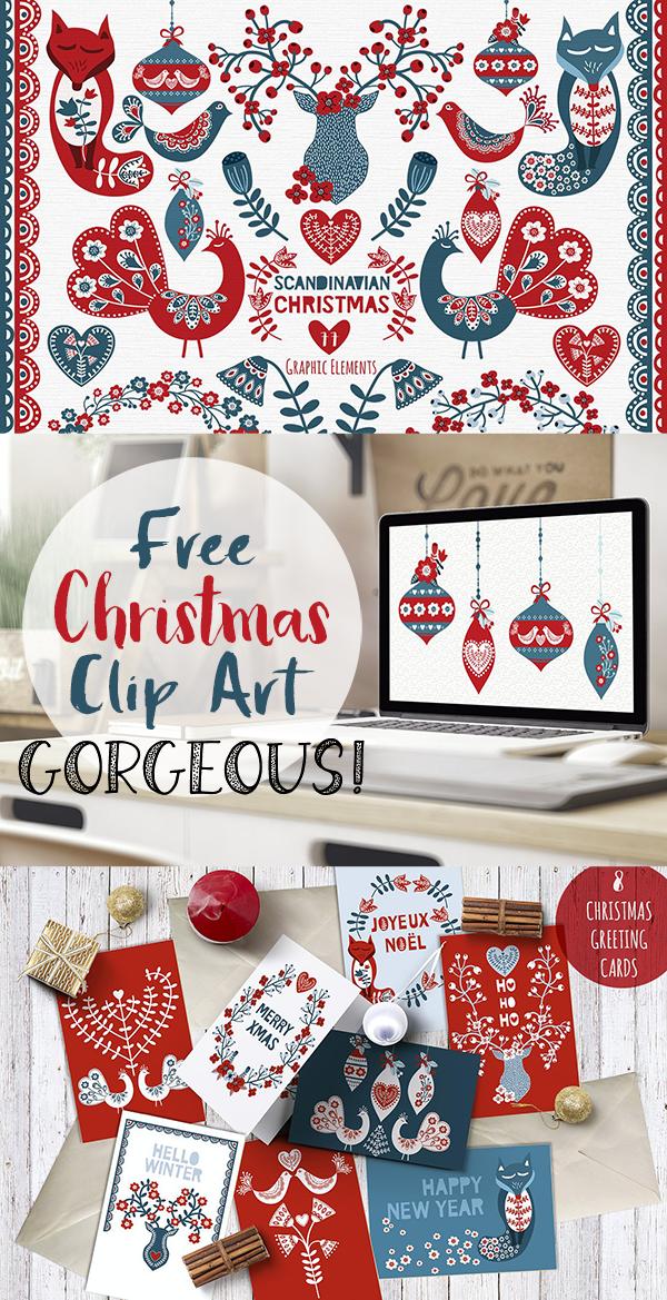 Free Scandinavian Christmas Graphics.
