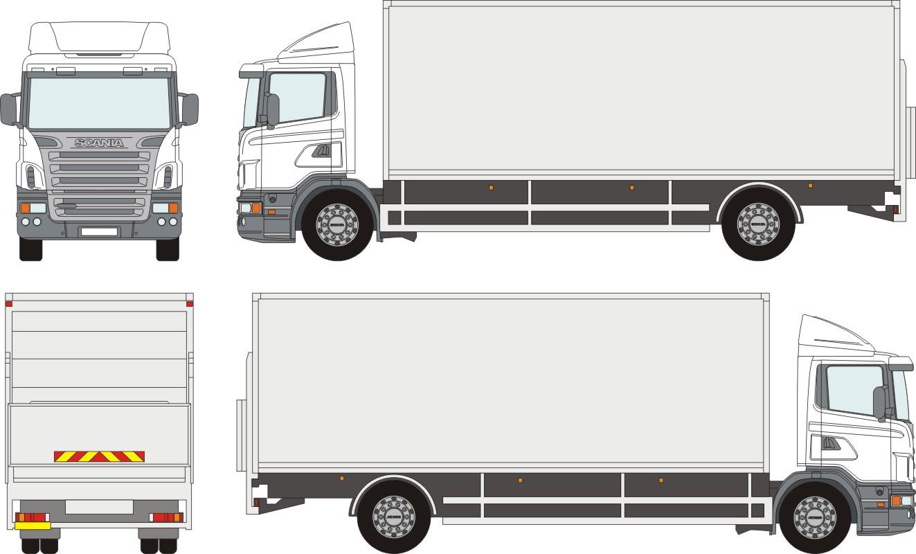Scania trucks clipart.
