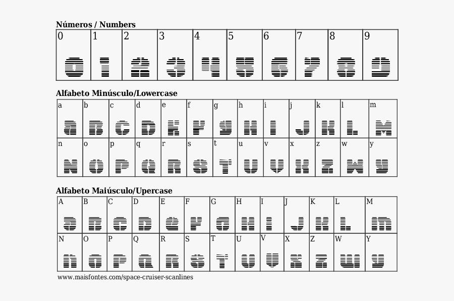 Font Details Space Cruiser Scanlines.