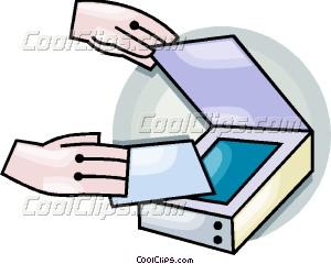 flatbed scanner Vector Clip art.