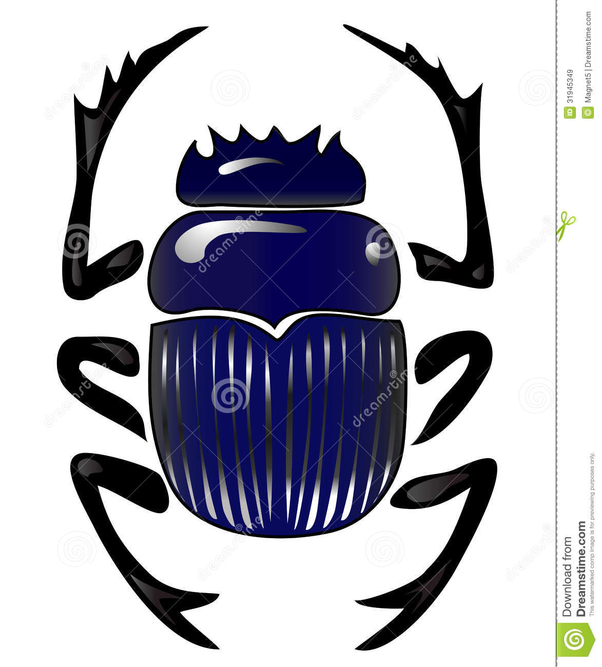 Beetle Scarab Royalty Free Stock Images.
