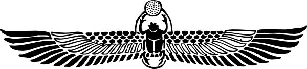 Winged Scarab clip art Free vector in Open office drawing svg.