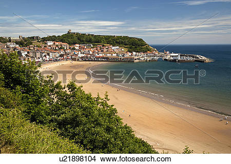 Stock Photo of England, North Yorkshire, Scarborough. South Bay.
