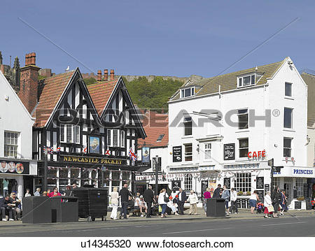 Stock Photography of England, North Yorkshire, Scarborough. Bars.