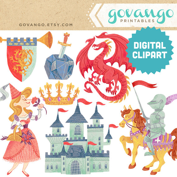 MEDIEVAL TIMES Digital Clipart Instant Download by govango on Etsy.