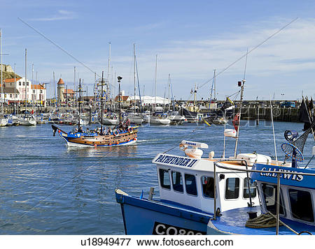 Picture of England, North Yorkshire, Scarborough, Yachts and.