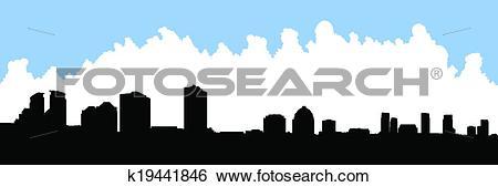 Clip Art of Scarborough Skyline k19441846.