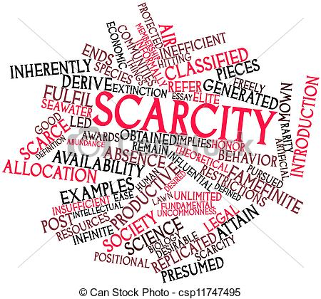 Scarcity in economics clipart.