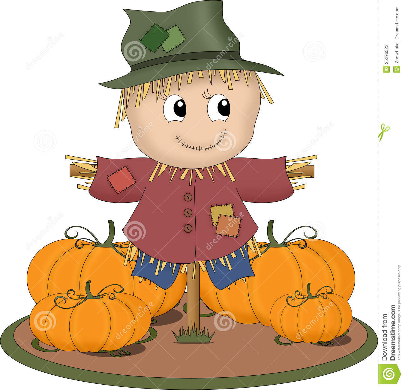 Scarecrow And Pumpkin Clipart (47+).