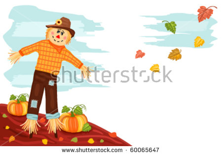 Pumpkin Scarecrow Stock Photos, Royalty.