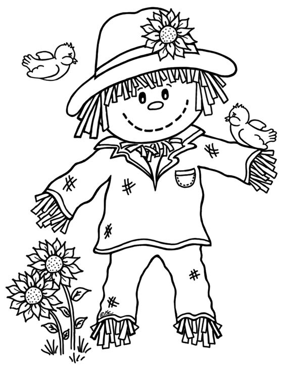 Black and white scarecrow clipart 2 » Clipart Station.
