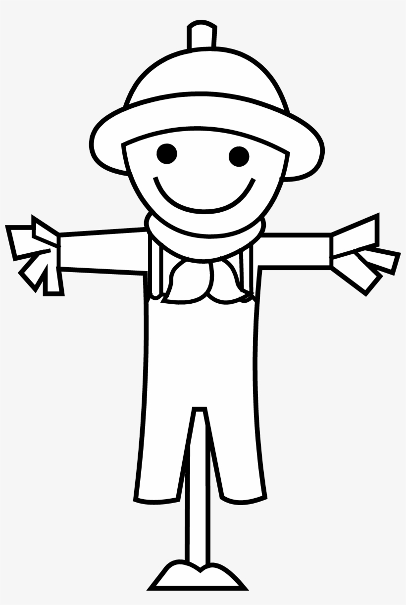 Download Free png Black And White Scarecrow Clipart 2 By.