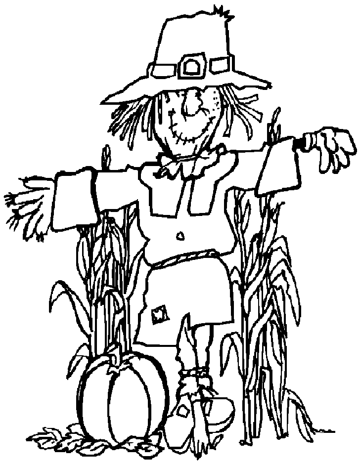 Scarecrow Clipart Black And White.