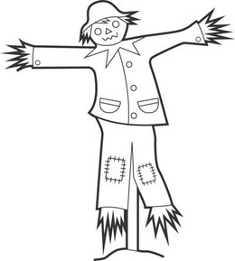 Download scarecrow black and white clipart Clip art.